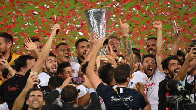 في نهائي الدوري الاوروبي لكرة القدم اشبيلية يتوج باللقب للمرة السادسة بفوز مثير على إنتر ميلان