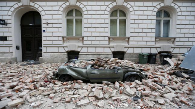 زلزال ضرب عاصمة كرواتيا وسبب أضرارا مادية كبيرة