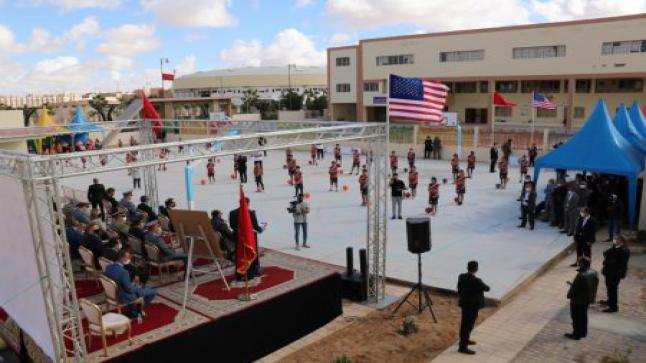 مدينة العيون ….مسؤول أمريكي يفتتح مركز تربية من أجل تنمية قدرات الشباب